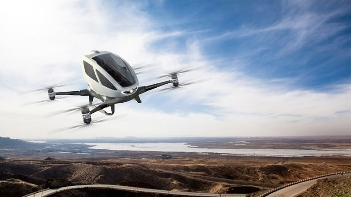 The world's first electric, personal Autonomous Aerial Vehicle (AAV) - EHang 184  (EHANG)