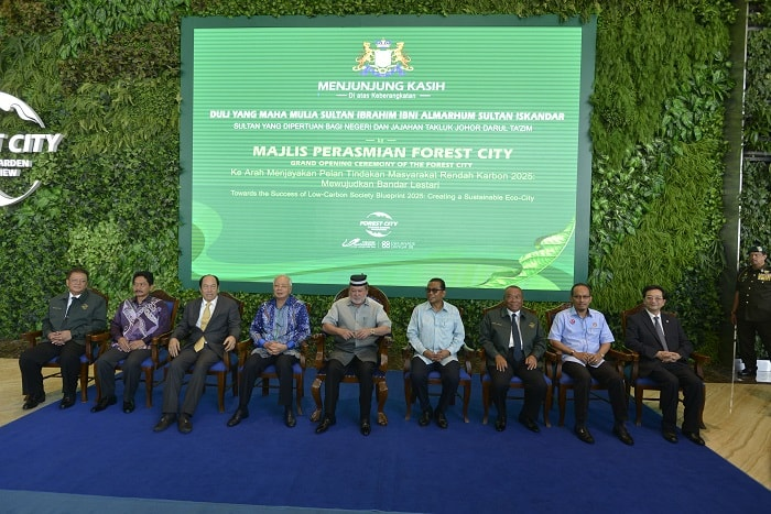 Group photo of all distinguished guests on stage - Forest City - Malaysian Government - Economic Incentives