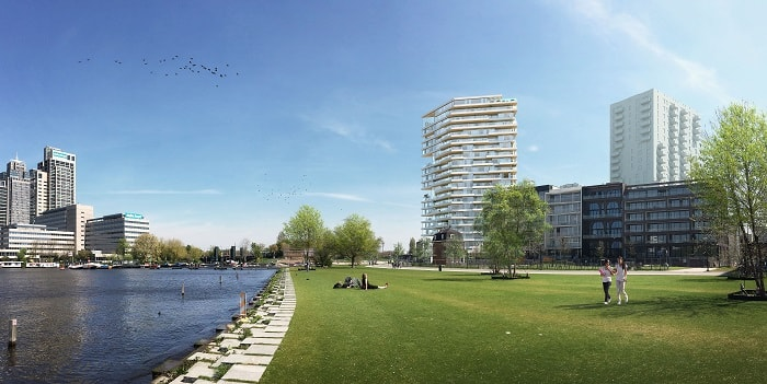 Timber Tower - Green Building Amsterdam - Team V Architecture