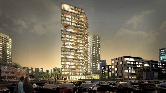 Timber Tower - Amsterdam - Team V Architecture
