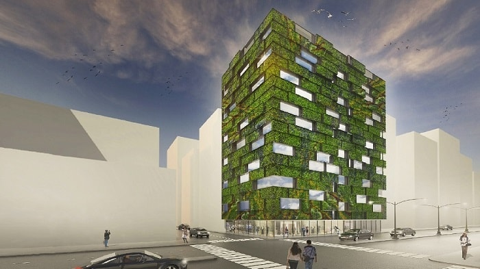 Biomorphic Living Screen in the city from Inocente and Koliji - eco urban green building