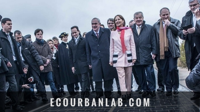Featured Inauguration of solar panel roadway by Ségolène Royal in France - eco urban energy